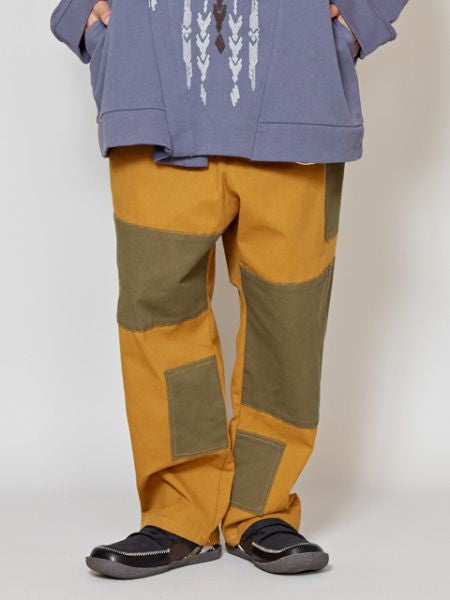 Cotton Twil Patchwork Pants