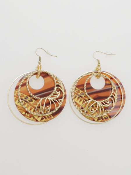 Samoan Tribe Style Earrings-Ametsuchi