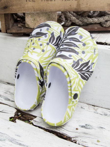 Polynesian Tribal Pattern Clogs