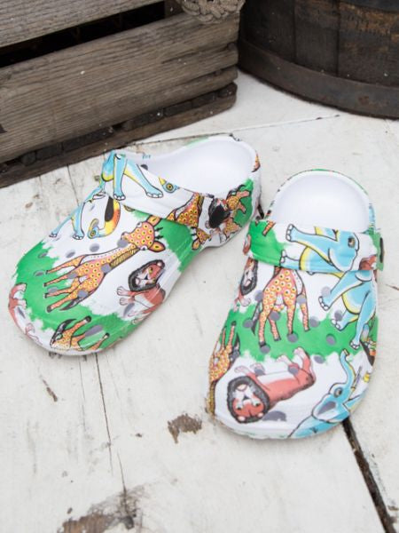 Safari Muster EVA Kids Clogs