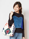 Geommetrical Pattern Print Boa Mini Bag-Ametsuchi