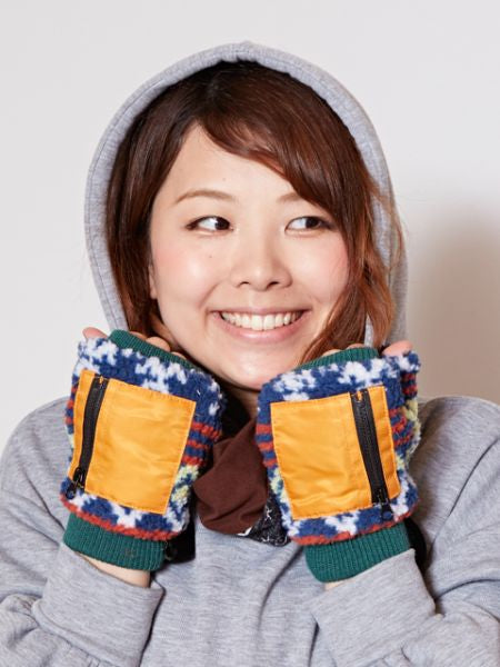 Boa Gloves with Zip Pocket -Gloves-Ametsuchi