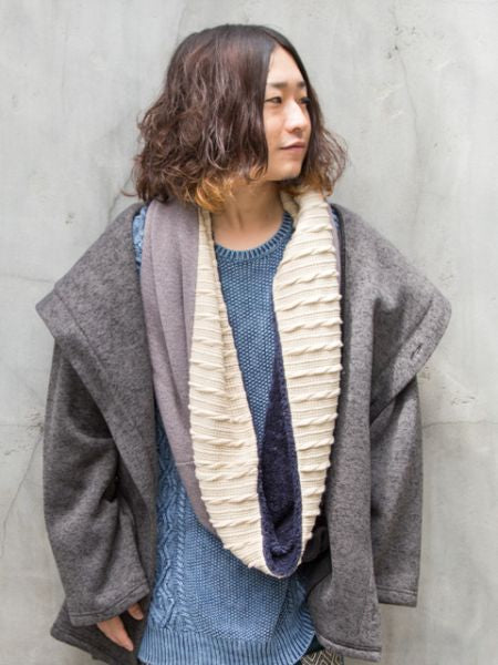 Patchwork Knitted Snood-Ametsuchi