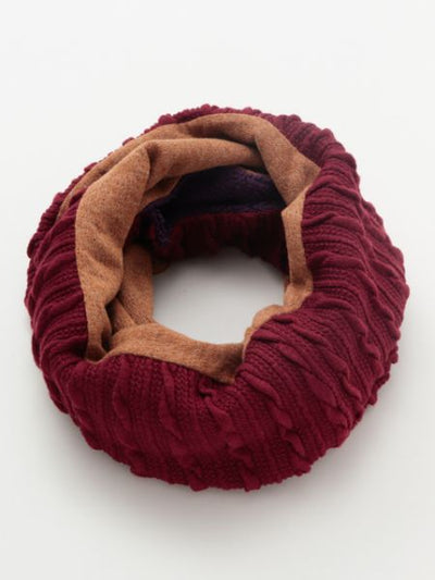 Patchwork Knitted Snood-Scarves-Ametsuchi