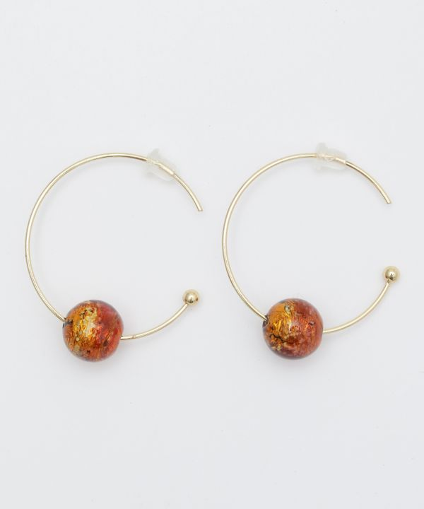 Light Glow HOTARUDAMA Hoop Earrings