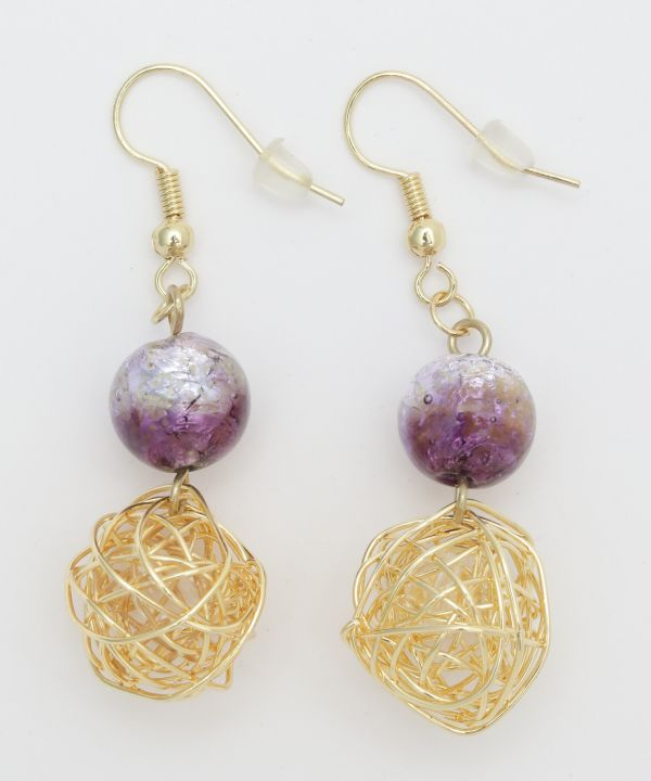 Light Glow HOTARUDAMA Ball Earrings
