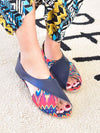 African Pattern ×Plain Pumps-Shoes-Ametsuchi