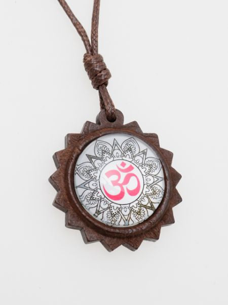 Woody Mandala Necklace -Necklaces-Ametsuchi