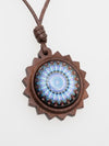 Woody Mandala Necklace-Necklaces-Ametsuchi