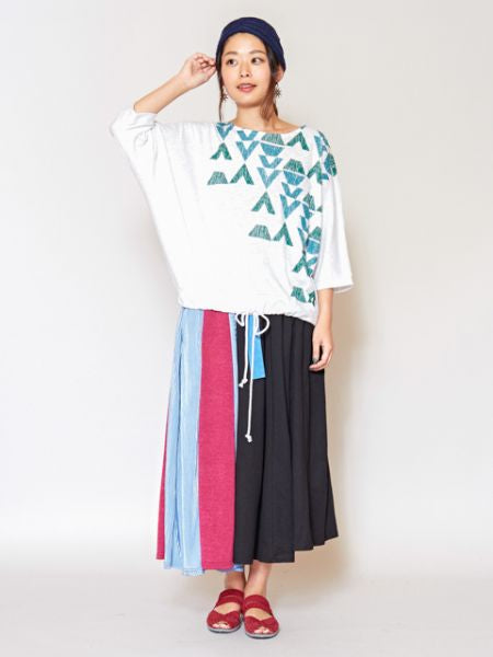 Geometrical Pattern Oversized Top