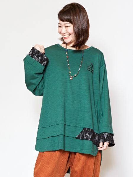 Patchwork Cut Sew Top-Ametsuchi