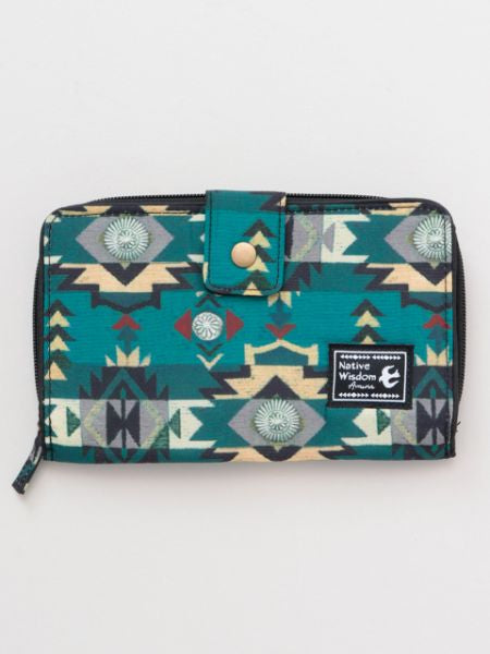 Navajo Pattern Long Zip Wallet-Ametsuchi