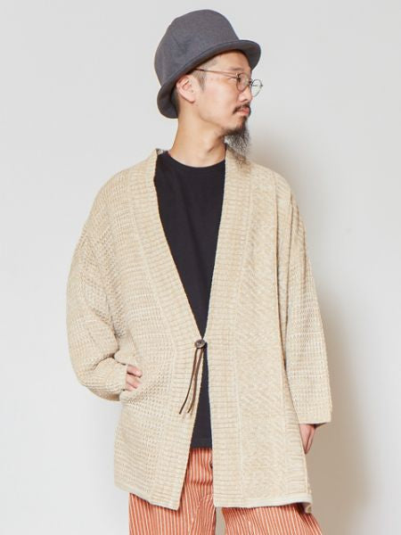 Melange Knit Cardigan with Dolman Sleeve