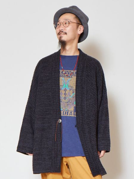Melange Knit Cardigan with Dolman Sleeve-Ametsuchi