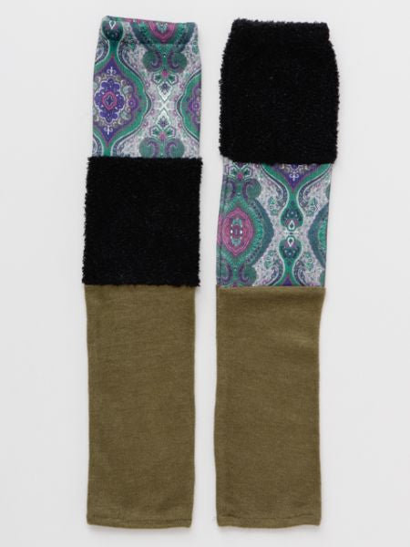 Patchwork Arm Cover-Gloves-Ametsuchi