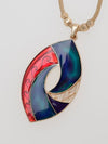 Tribal Wave Mood Necklace -Necklaces-Ametsuchi