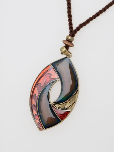 Tribal Wave Mood Necklace