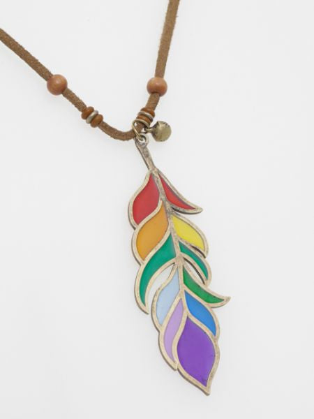 Stained Glass Style Necklace -Necklaces-Ametsuchi