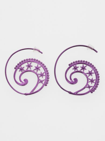 Crescent & Star Curve Earrings