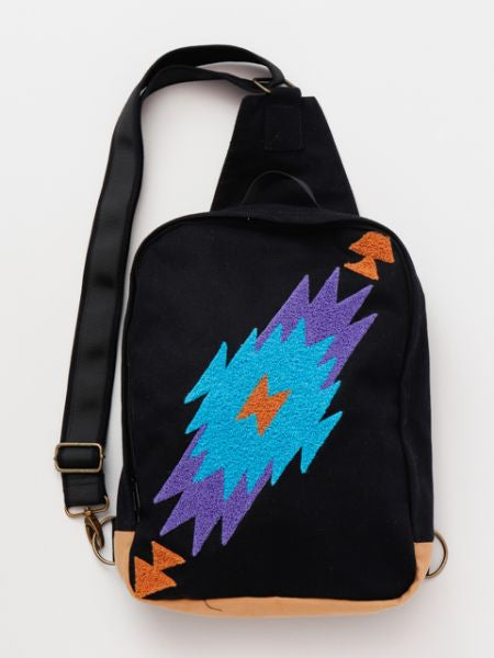 Navajo Pattern One Shoulder Bag-Ametsuchi