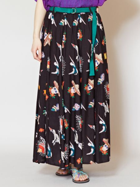 Mexican Motif Long Skirt