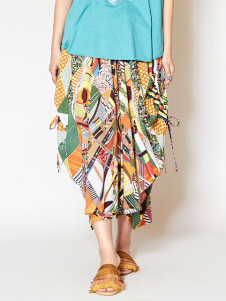 Egyptian Inspired Pattern Harem Pants-Pants & Shorts-Ametsuchi