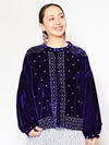 Beaded Embroidery Velour Jacket