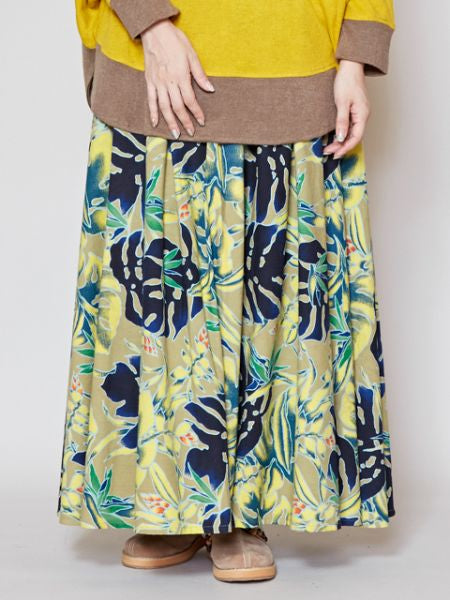 Cotton Flannel Long Skirt-Ametsuchi