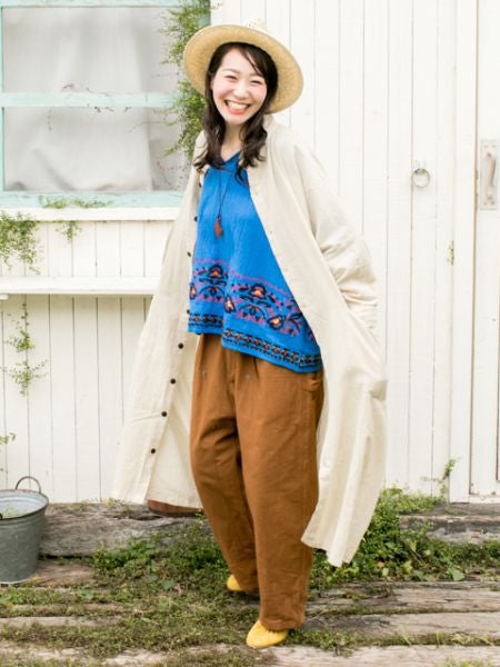 Plain Cotton Work Pants-Pants & Shorts-Ametsuchi