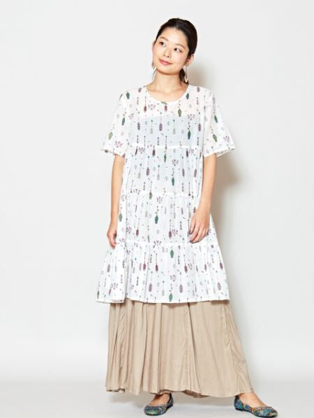 Arrow Tiered Midi Dress