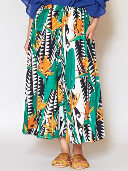 Bird of Paradise Palazzo Wide Leg Pants-Ametsuchi