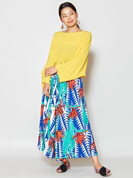 Bird of Paradise Palazzo Wide Leg Pants
