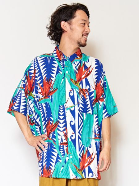 Bird of Paradise Men's Shirt-Ametsuchi