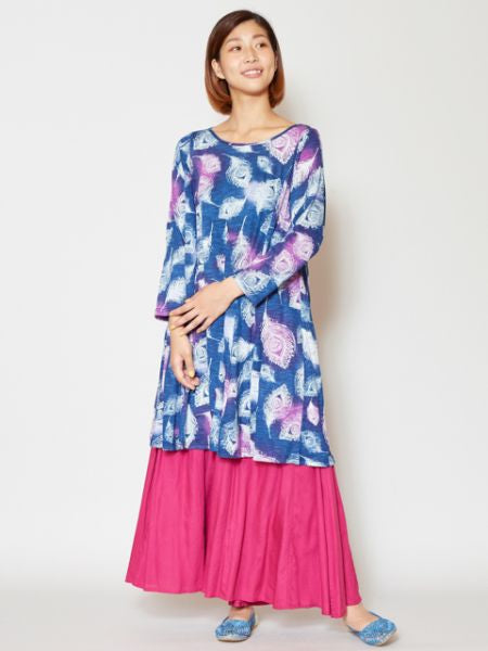Peacock Feather Printed Tunic