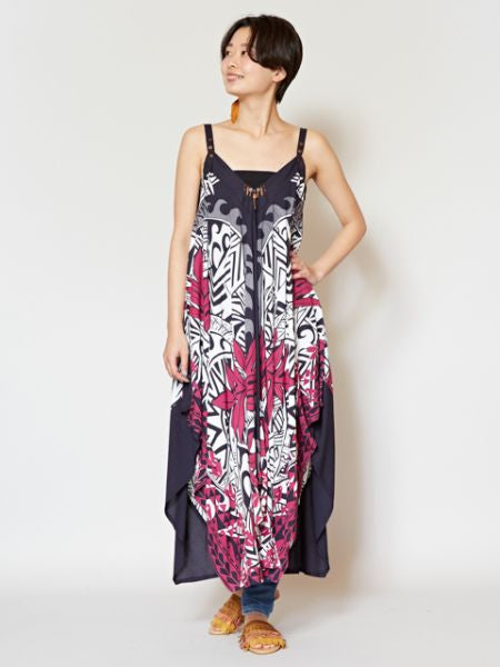 Tribal Tropical Pattern Convertible Dress
