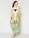 Tribal Tropical Pattern Convertible Dress-Ametsuchi