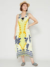Tribal Tropical Pattern Dress-Ametsuchi