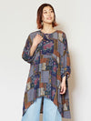 Retro Pattern Tunic -Dresses-Ametsuchi