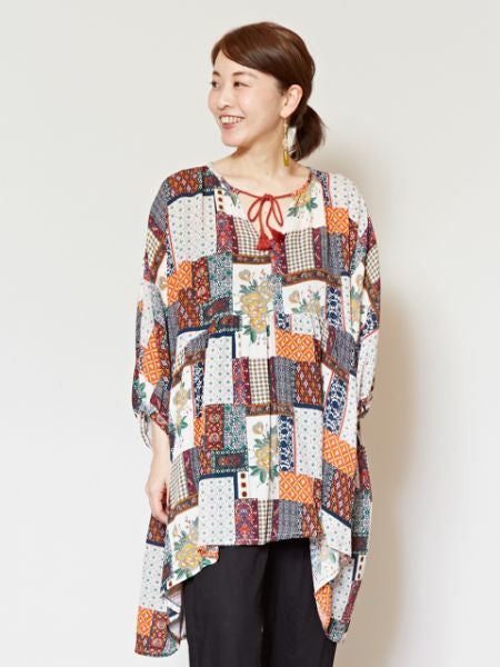 Retro Pattern Tunic