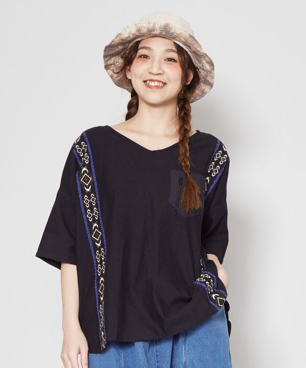 Great Nature V Neck Top