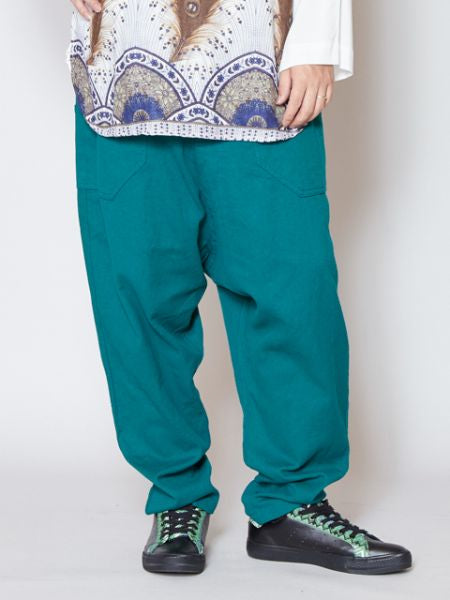 Single Color Basic Bohemian Harem Pants-Ametsuchi