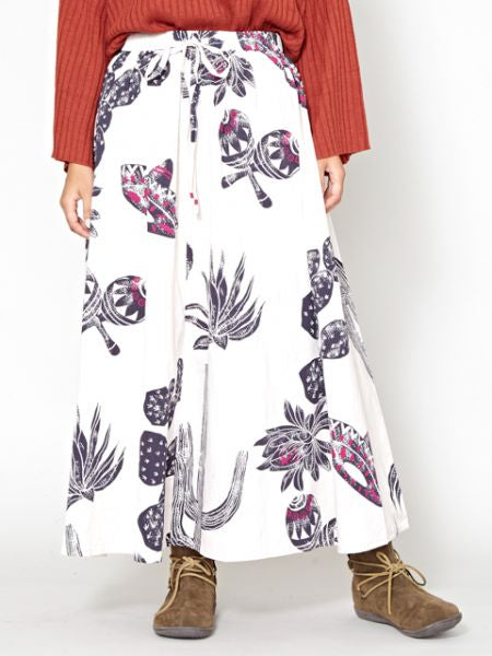 Mexican Cactus Printed Long Skirt