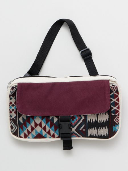 Geometric Pattern Patchwork Body Bag-Bags & Purses-Ametsuchi