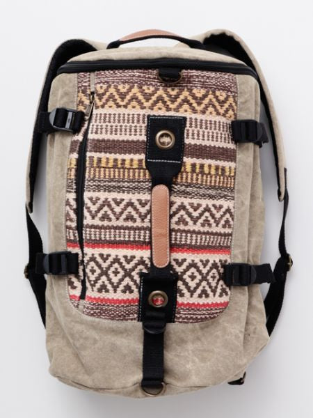 Dobby Barrel Shape Backpack