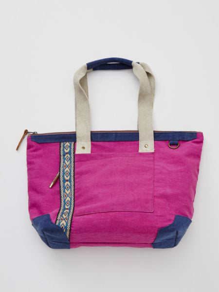 Acid Washed Tote Bag