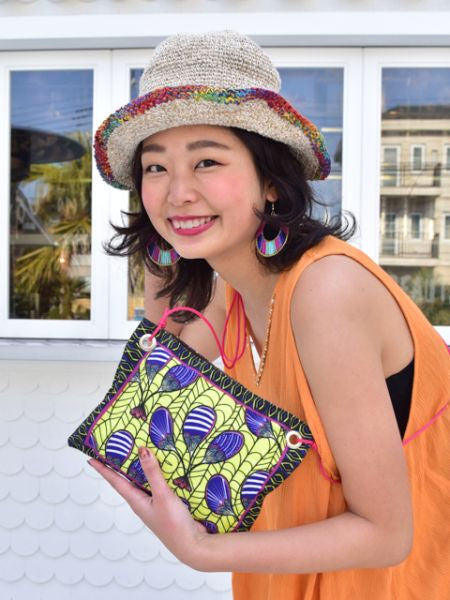 African Batik Pattern Shoulder Bag-Ametsuchi
