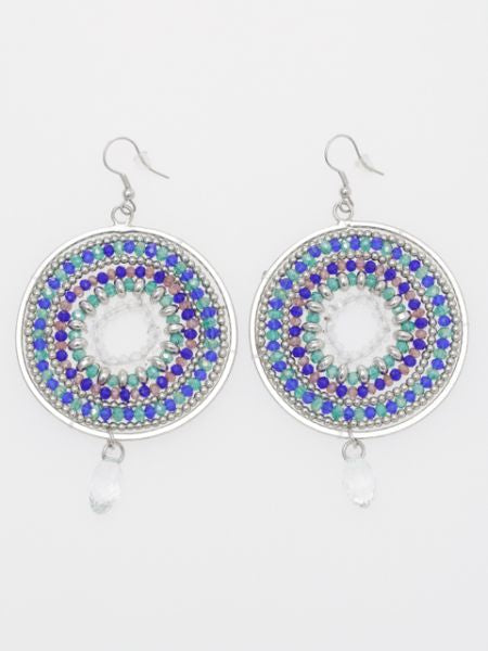 Beaded MANDALA Earrings