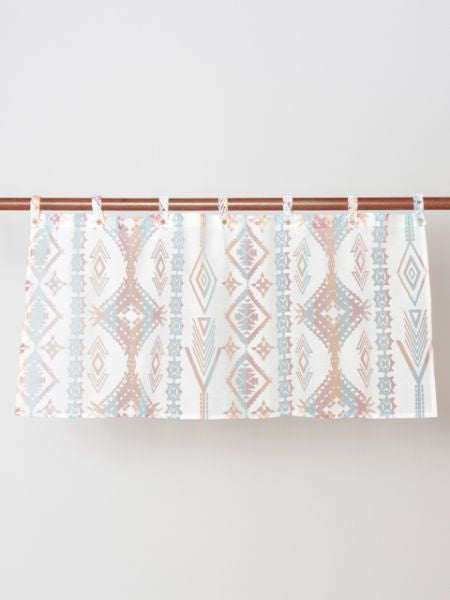 Navajo Pattern Sheer Short Curtain-Home Decor-Ametsuchi