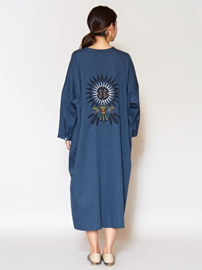 Native American Motif Embroidered Dress