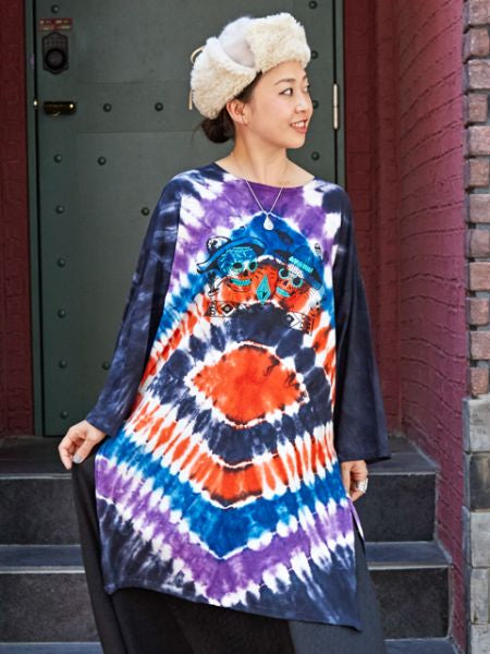 CALAVERA Tie Dye Midi Dress -Dresses-Ametsuchi